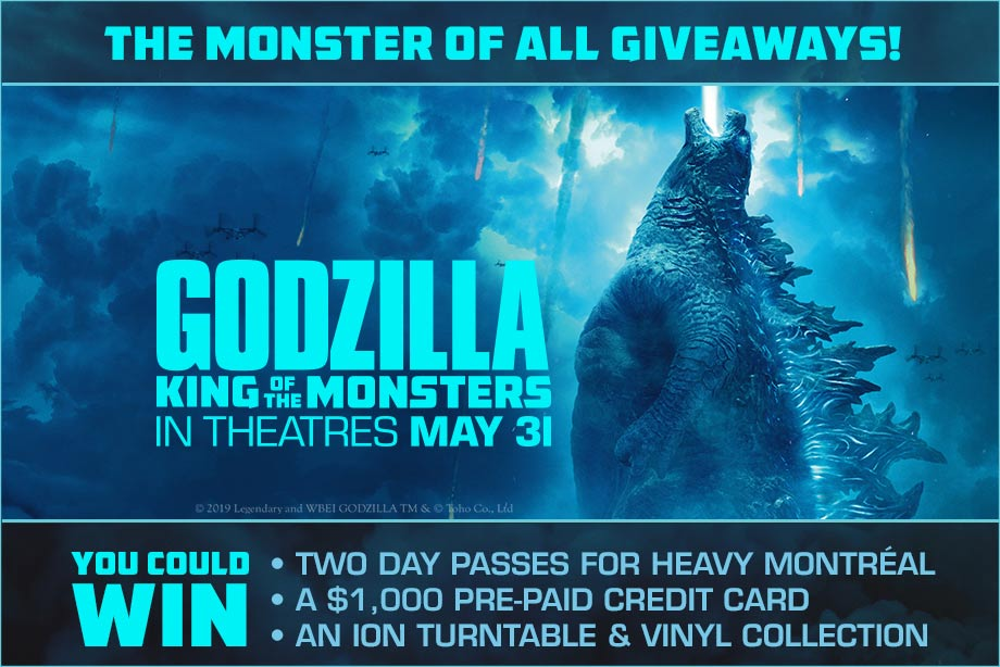 'GODZILLA: KING OF THE MONSTERS' - Win a Monster Prize Pack, with a $1,000 Pre-Paid Credit Card and More!