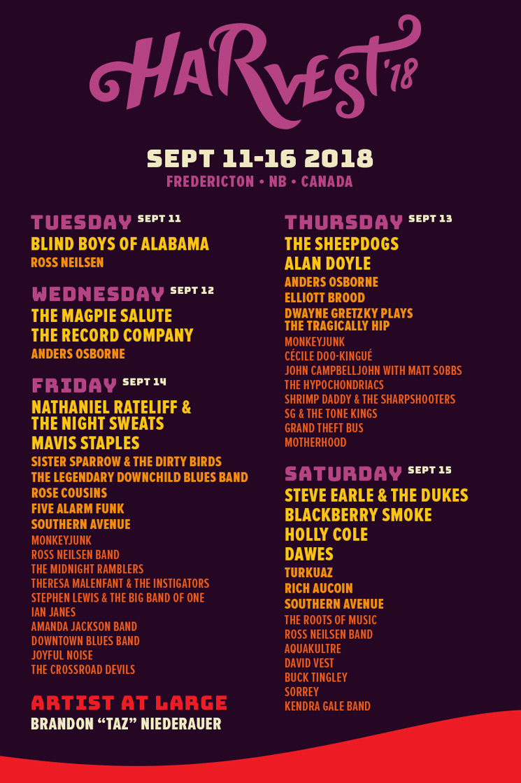 Jazz Fest New Orleans 2018 >> Fredericton's Harvest Jazz & Blues Festival Reveals 2018 Lineup