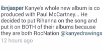 Kanye West's Entire New Album Co-Produced by Paul McCartney?
