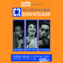 Steph Tolev, Nick Reynoldson and Daniel Woodrow Ring In the New Year at the Comedy Records/Exclaim! Standup Showcase