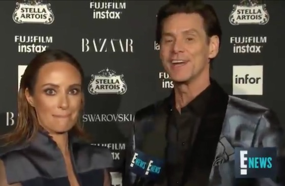 Jim Carrey goes on freaky existential rant at fashion show