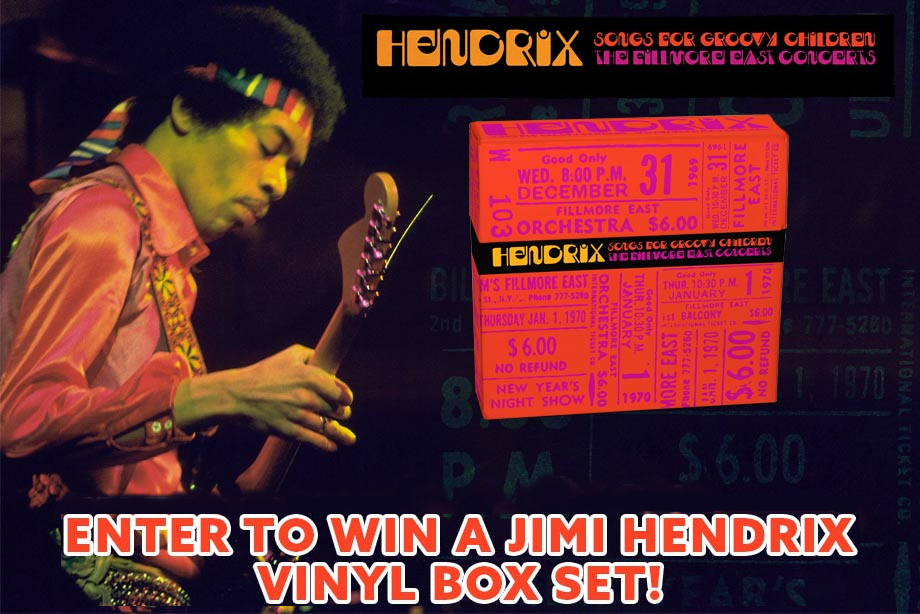 Jimi Hendrix – Enter to Win a 'Songs For Groovy Children: The Fillmore East Concerts' Box Set