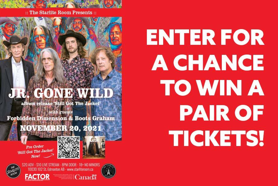 Jr. Gone Wild – Enter for a chance to win a pair of tickets to their album release show!