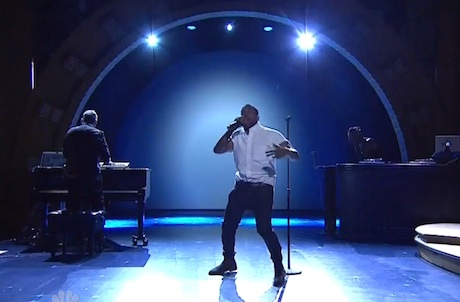 Kanye West Performs Top Hits On Seth Meyers