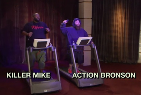 Killer Mike & Action Bronson - 'Treadmill Rap Battle' (live on 'The Eric Andre Show')
