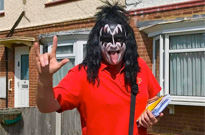This Dude Keeps Delivering the Mail Dressed as Gene Simmons of KISS