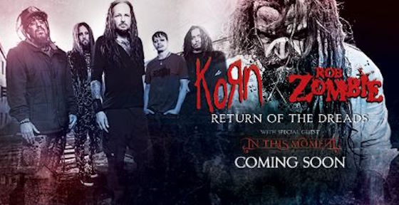 "Rob Zombie and Korn Team Up for ""Return of the Dreads"" Tour"