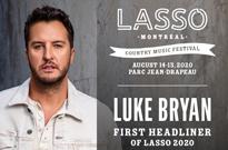 Lasso Montreal Gets Luke Bryan for Inaugural Edition