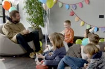 Here's Liam Gallagher Getting Grilled by a Bunch of Super Cute Kids