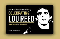 ​Lou Reed Honoured with New York Public Library Card