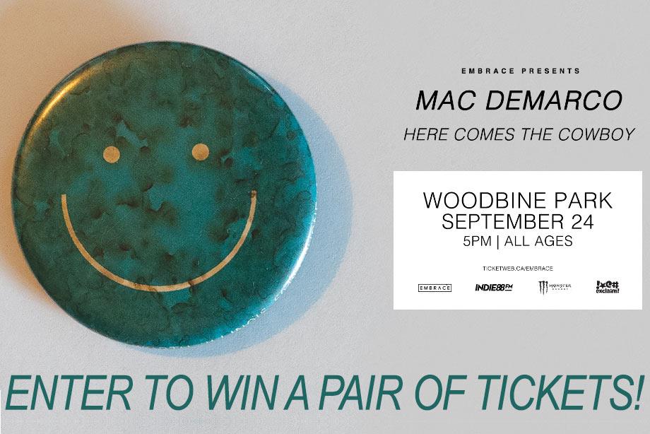 Mac DeMarco - Win Tickets to His Concert at Toronto's Woodbine Park!