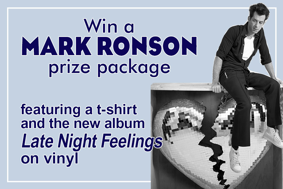 Mark Ronson – Win a copy of 'Late Night Feelings' on vinyl and a t-shirt!
