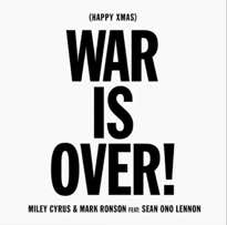 """Miley Cyrus, Mark Ronson and Sean Lennon Release """"Happy Xmas (War Is Over)"""" Cover"""