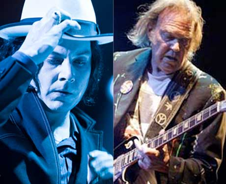 Neil Young and Jack White to Record and Press Vinyl Live on 'Tonight Show'