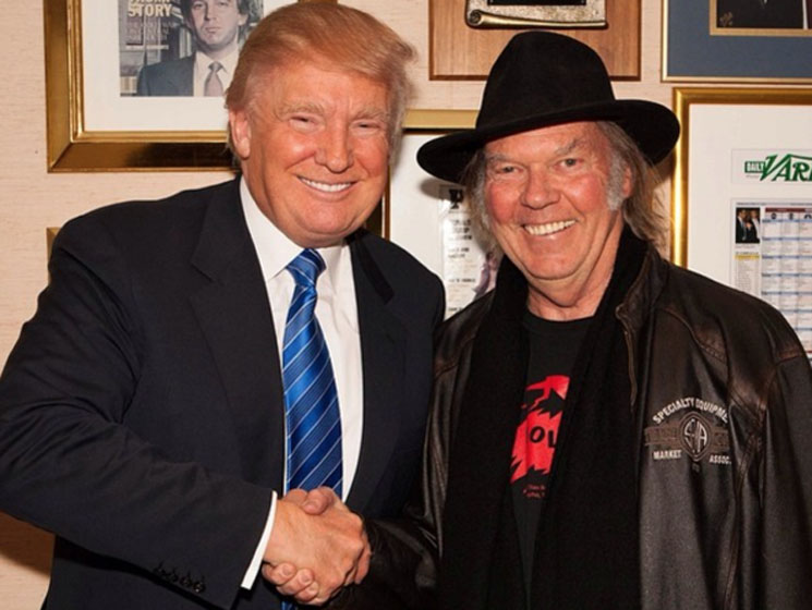 Neil Young is fine with Donald Trump using his music