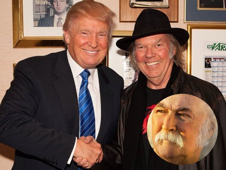 David Crosby Subtweets Neil Young For Letting Donald Trump