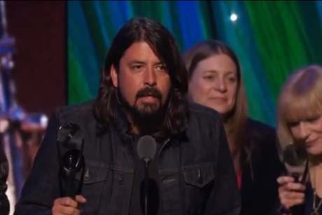 Nirvana - Rock and Roll Hall of Fame induction (video)