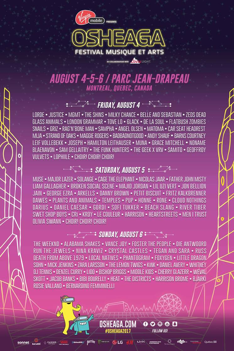 Osheaga 2017 Reveals Day-by-Day Lineup