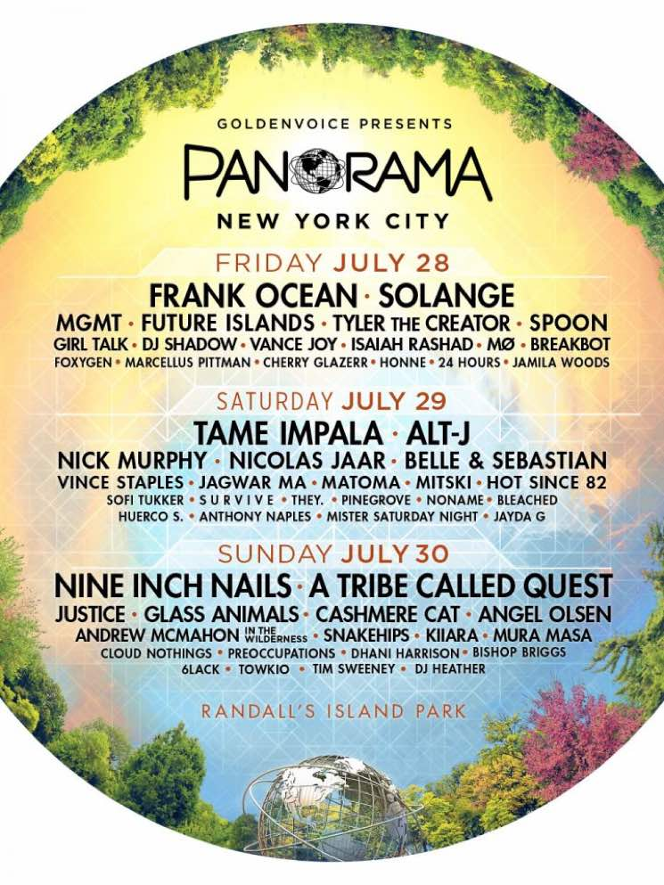​New York City's Panorama Festival 2017 Gets Frank Ocean, Nine Inch Nails, A Tribe Called Quest