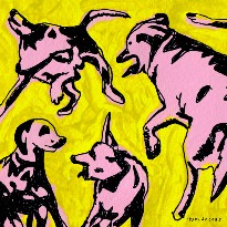 Paul Jacobs Stirs Up a Psychedelic Melting Pot with 'Pink Dogs on the Green Grass'