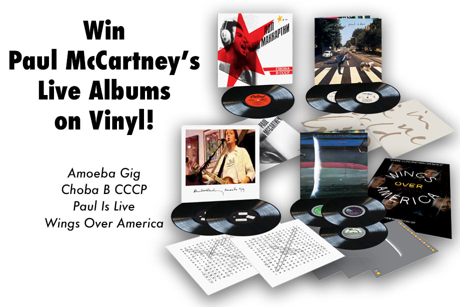 Paul McCartney – Win a Collection of Live Albums on Vinyl!