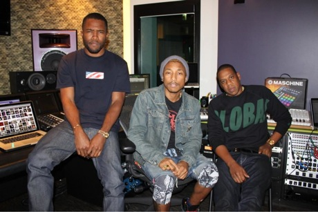 Jay-Z, Pharrell and Frank Ocean Hit the Studio Together