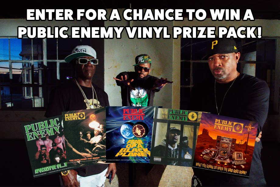 Public Enemy – Enter for a chance to win Public Enemy's Def Jam catalogue on vinyl!