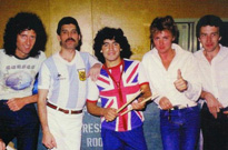 Here's How Maradona Joined Queen Onstage in Argentina