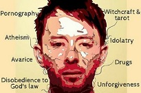 Thom Yorke's Face Used in Christian Group's Anti-Satan Ad Campaign