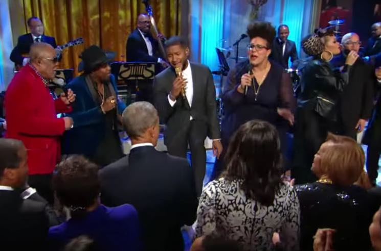 Barack Obama pays tribute to Ray Charles at White House