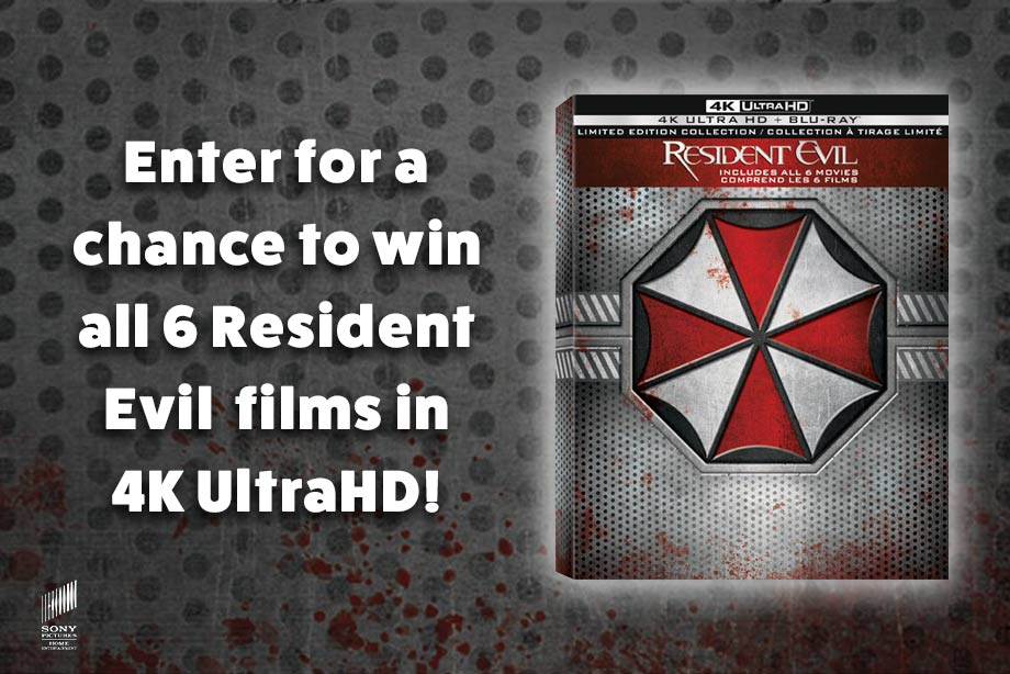 Resident Evil — Enter for Chance to Win all 6 Movies in 4K UltraHD!