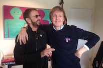 Paul McCartney and Ringo Starr Hit the Studio Together