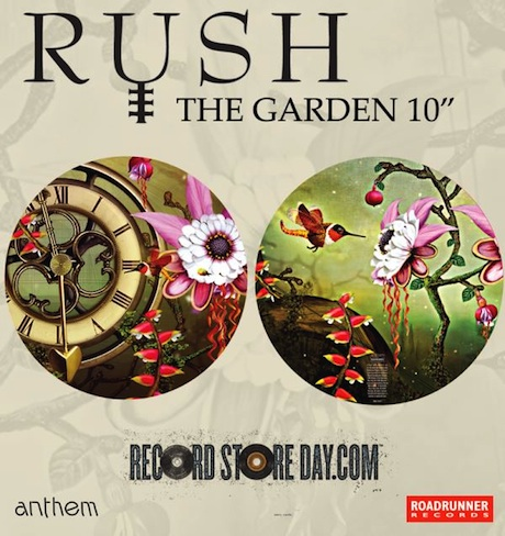 "Rush Release ""The Garden"" on Limited 10-Inch Picture Disc"