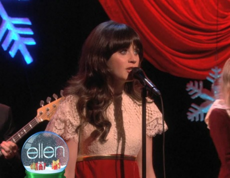 She And Him Christmas.She Him Rockin Around The Christmas Tree Live On Ellen