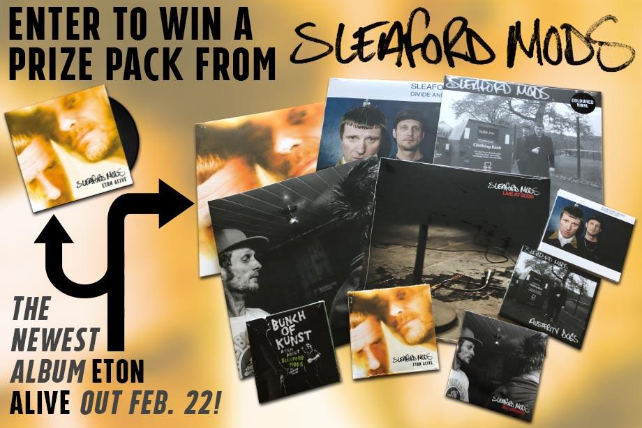 Sleaford Mods - Win a Huge Prize Pack, Including New Album 'Eton Alive' on LP+CD!