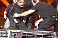 Post-Surgery Slipknot Singer Corey Taylor Takes a Hard Fall Onstage in Atlanta