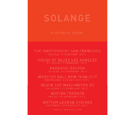 Solange Books North American Tour with Toronto Date