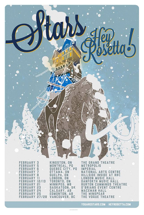 Stars and Hey Rosetta! Team Up for Canadian Tour