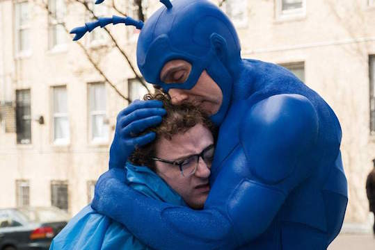 Peter Serafinowicz Dons a Blue Suit and an American Accent in the First Trailer for 'The Tick'