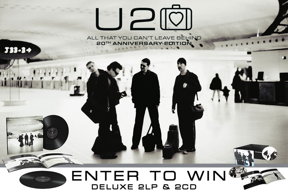 U2 — Enter For Your Chance to Win an 'All That You Can't Leave Behind' (20th Anniversary) Prize Pack!