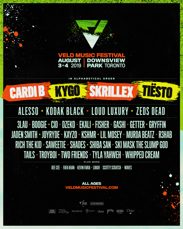 VELD Festival Announces 2019 Lineup with Cardi B, Kygo, Skrillex, Tiësto