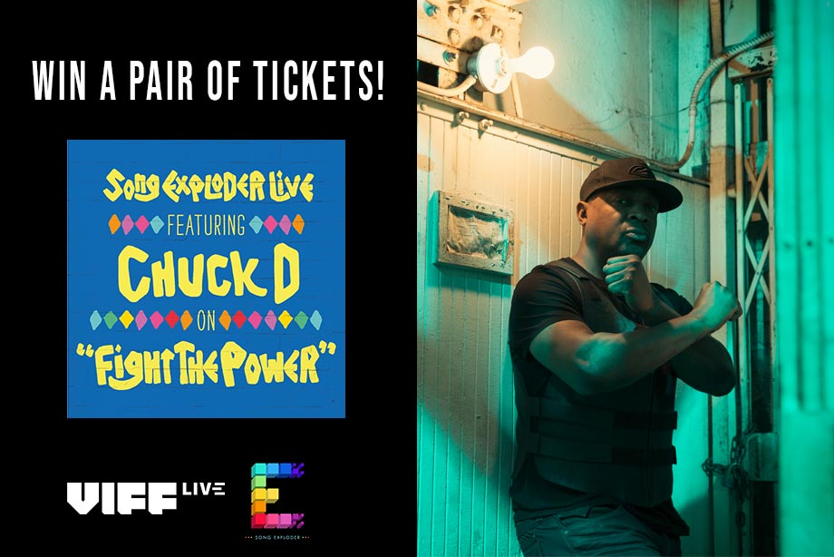 VIFF Live - Enter for a chance to win tickets to Song Exploder with Chuck D!