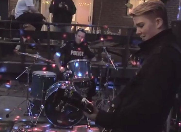 Police Respond to Noise Complaint at Mississauga House Show by Actually Rocking Out on the Drums with Teen Band