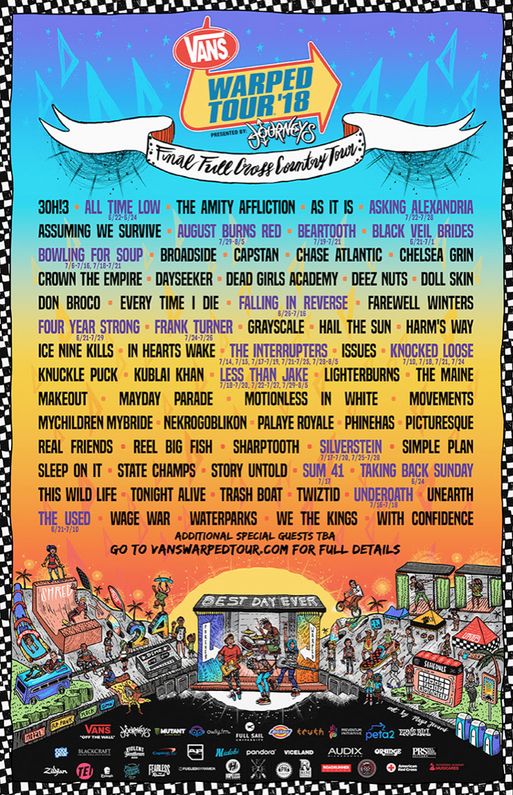 Here S The Lineup For The Last Ever Warped Tour