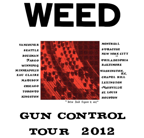 Weed Announce 'Gun Control' EP, North American Tour