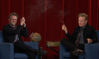 Seth Rogen Convinces Conan O'Brien to Share a Joint with Him
