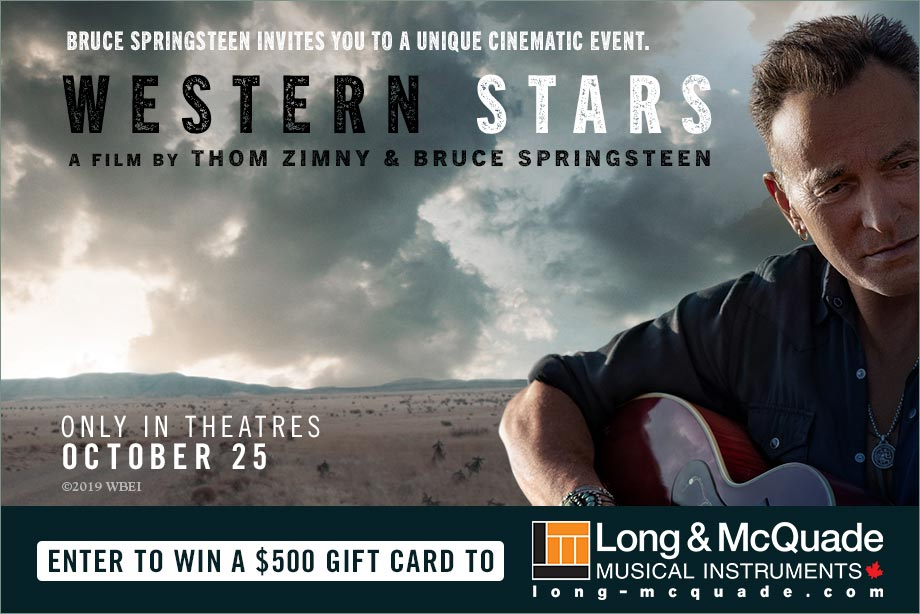 'WESTERN STARS' - Enter for a chance to win a $500 Long & McQuade gift card and movie passes!