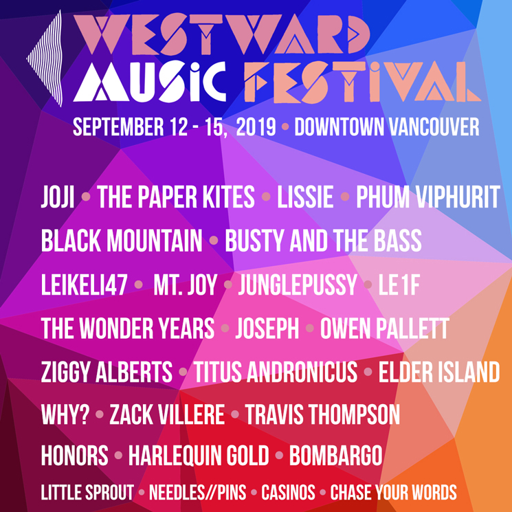 Vancouver's Westward Music Festival Unveils 2019 Lineup with Black Mountain, Owen Pallett, Joji