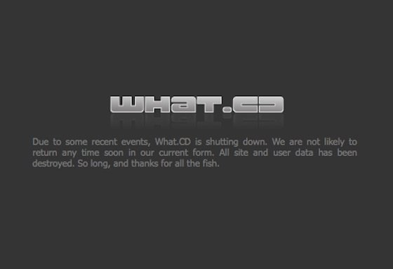 Torrent Website What.CD Shuts Down