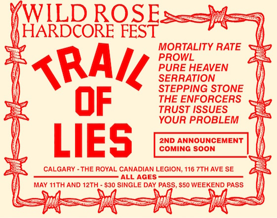 Calgary's Wild Rose Hardcore Fest Gets Trail of Lies, Mortality Rate